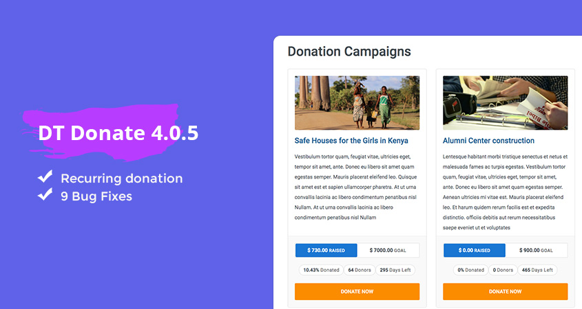 DT Donate joomla donation extension updated