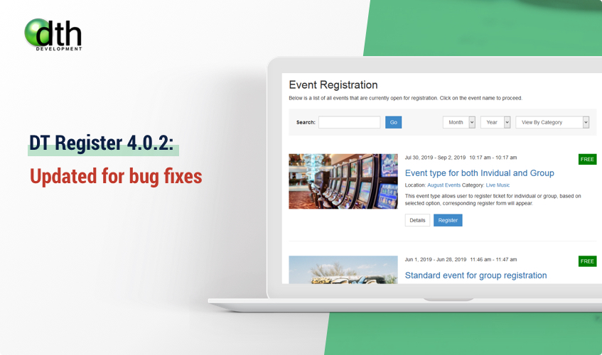 DT Register -  joomla event registration update