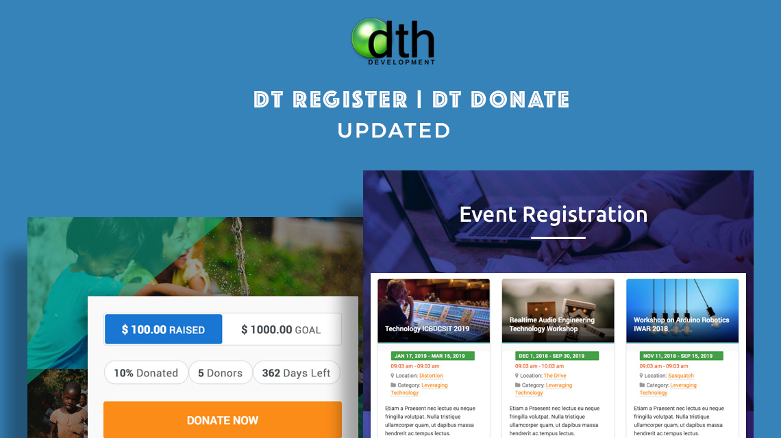 joomla event registration DT Register update
