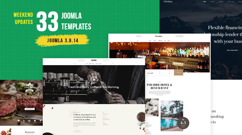 33 gavick Joomla templates updated
