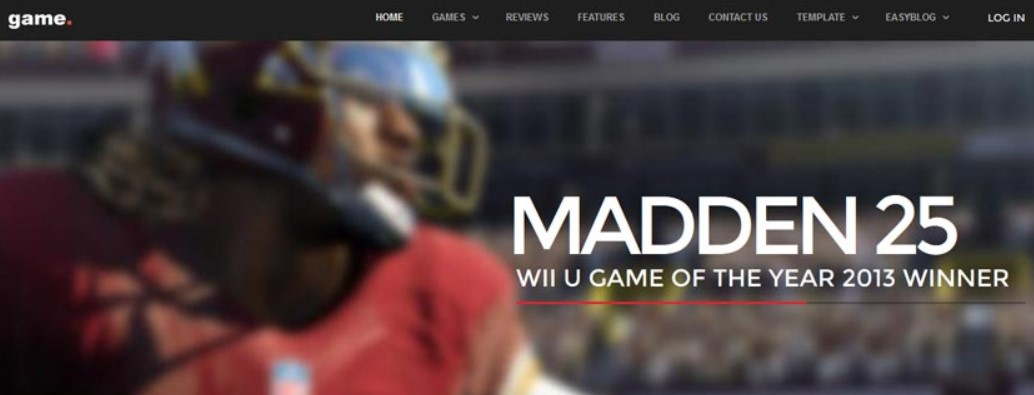 game joomla template update