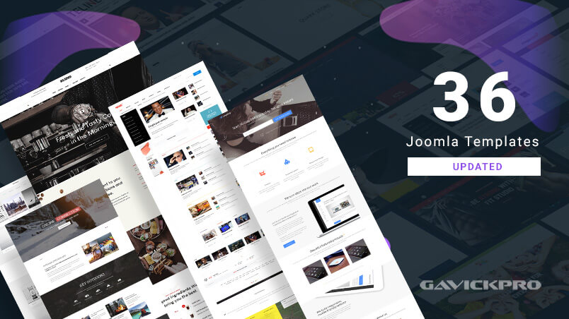 36 gavick Joomla templates updated