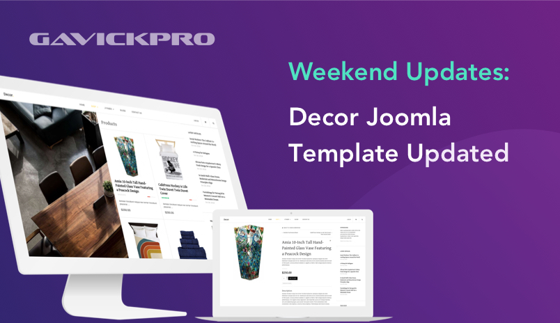 gavick decor Joomla template updated