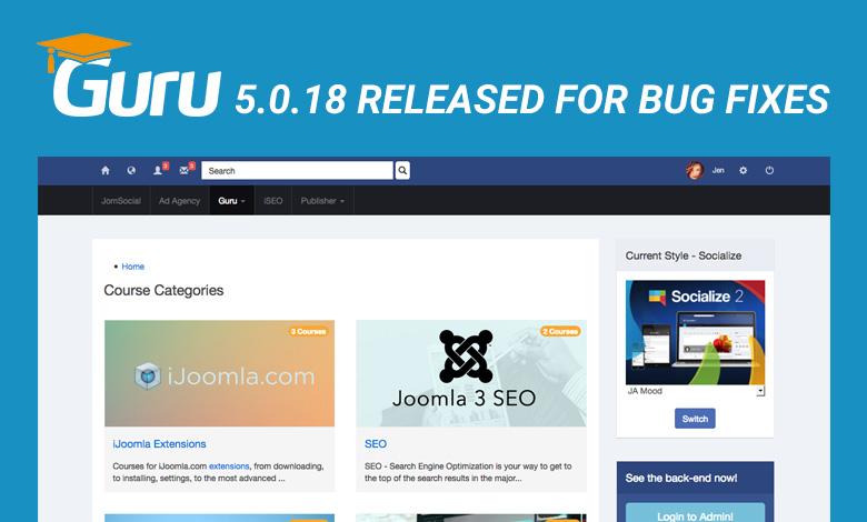 guru 5.0.18 update released