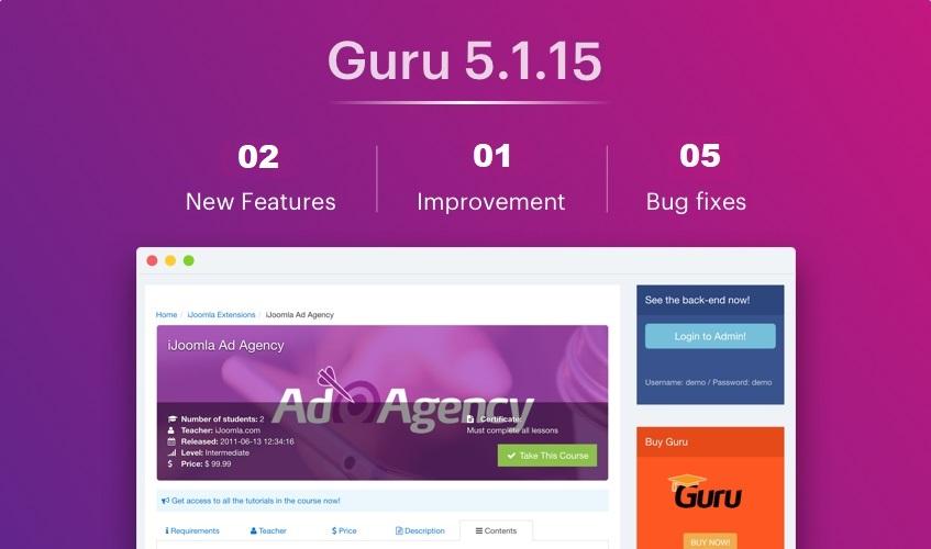 guru 5.1.15 updates released