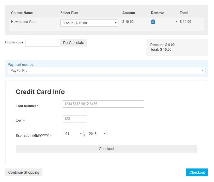 guru 5.1.15 update for paypal pro payment plugin