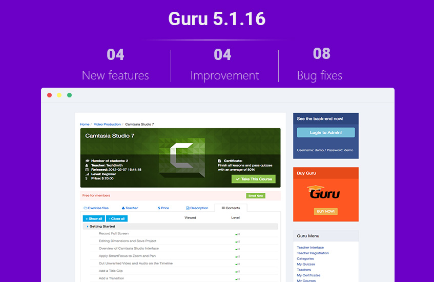 guru 5.1.16 updates released