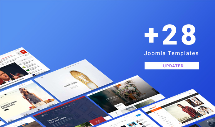 30 joomla templates updated for Joomla 3.9.2