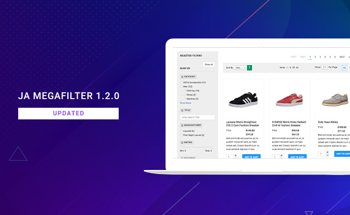 JA Megafilter Joomla search and filter extension updated for bug fixes