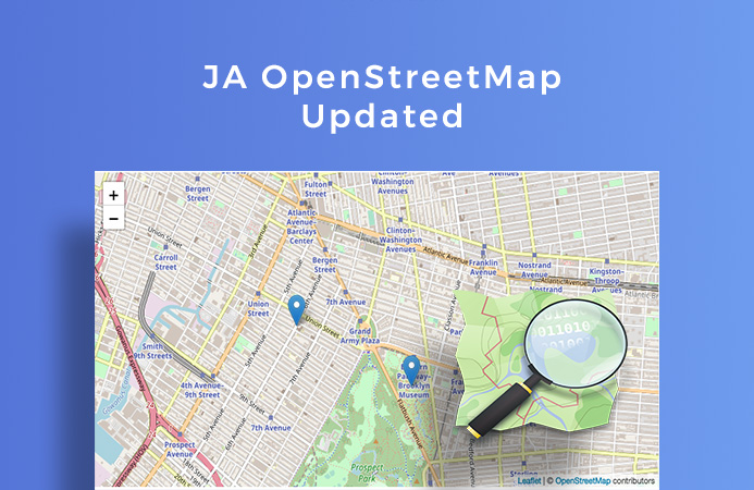 JA Joomla OpenStreetMap Plugin updated for a new feature and bug fixes