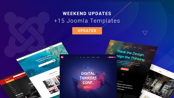 15 Joomla templates updated for Joomla 3.9.5 and bug fixes