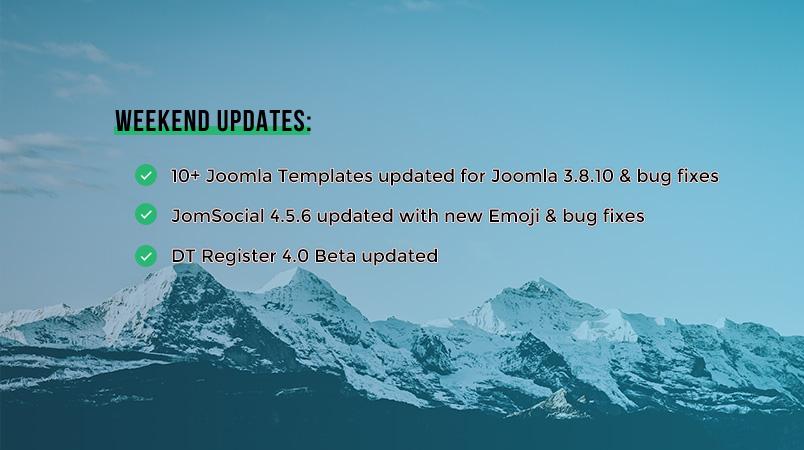 Joomlart updates