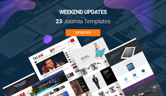 Weekend Updates: 23 Joomla templates updated for Joomla 3.9.11