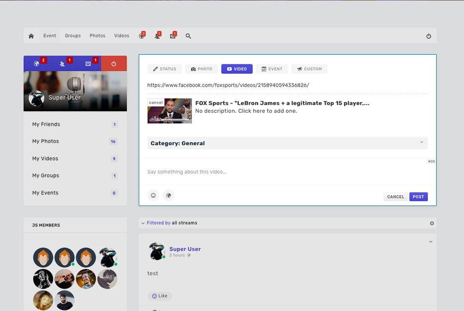 JomSocial 4.5.4 relased for video support