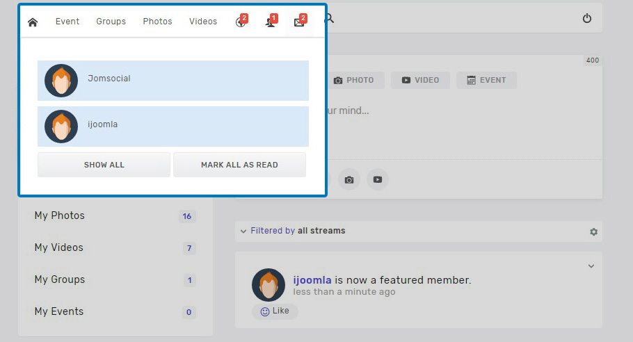 JomSocial 4.5.4 release for new features improvements and bug fixes