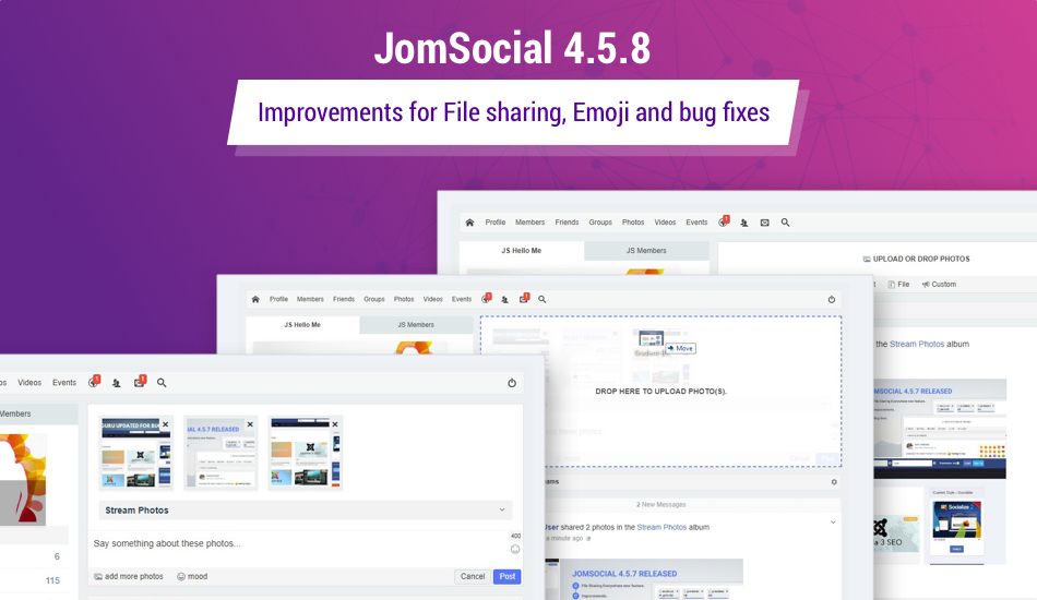 JomSocial 4.5.8 release for improvements and bug fixes