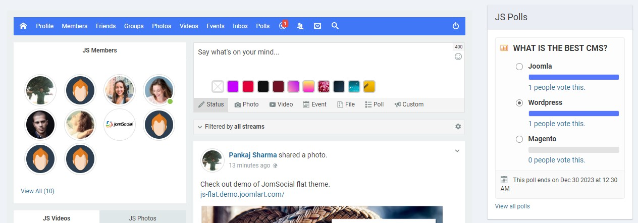 JomSocial 4.6.2 release for a new features, improvements and bug fixes