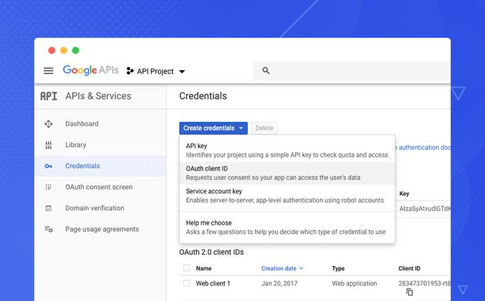 Google login setting in jomsocial admin panel