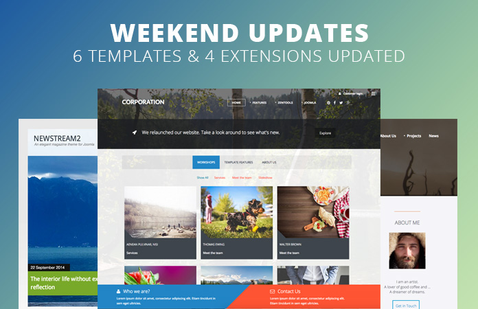 Weekend Updates: 6 Joomla templates and 4 extensions updated