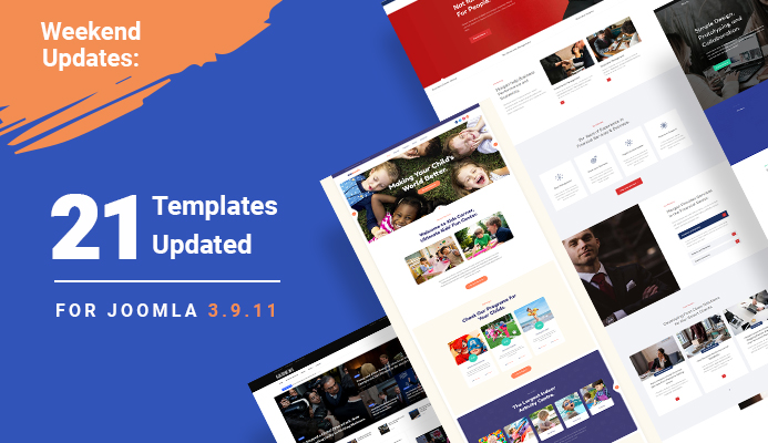 Weekend Updates: 21 Joomla templates updated for Joomla 3.9.11