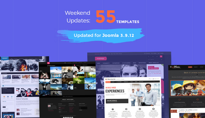 55 more Joomla templates updated for Joomla 3.9.12