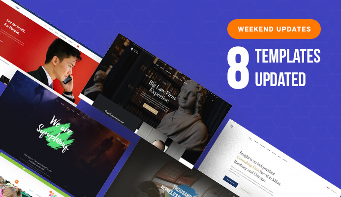 Weekend Updates: 8 Joomla templates updated for Joomla 3.9.13