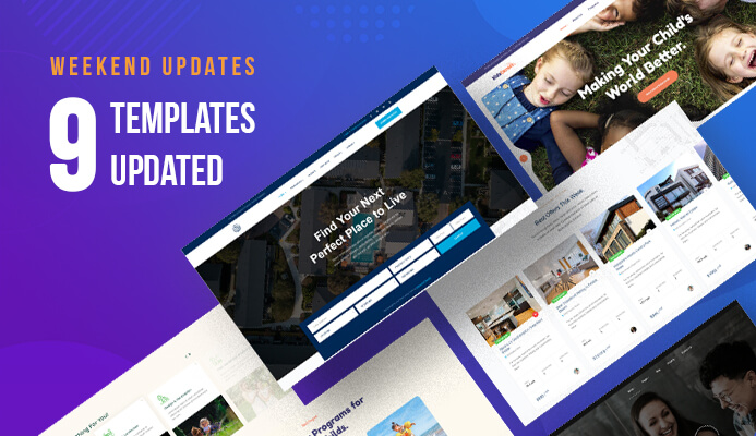 9 more Joomla templates updated for Joomla 3.9.12