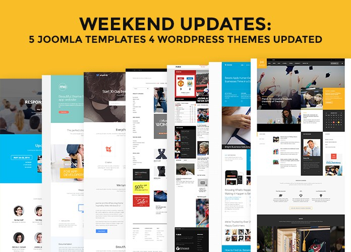 Weekend Updates: 5 Joomla templates and 4 WordPress themes updated