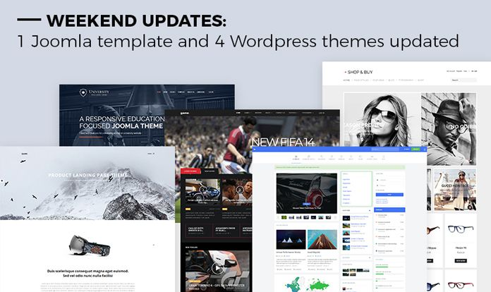 Weekend Updates: 1 Joomla template and 4 WordPress themes updated