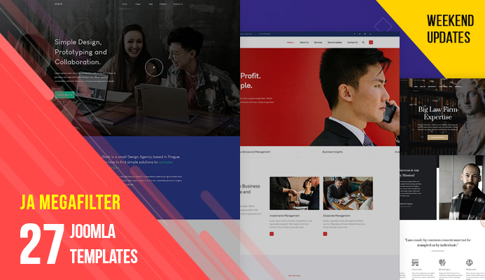 27 more Joomla templates and JA Mega filter extension updated for Joomla 3.9.13