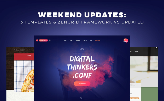 Weekend Updates: 3 Joomla templates and Zengrid Framework updated
