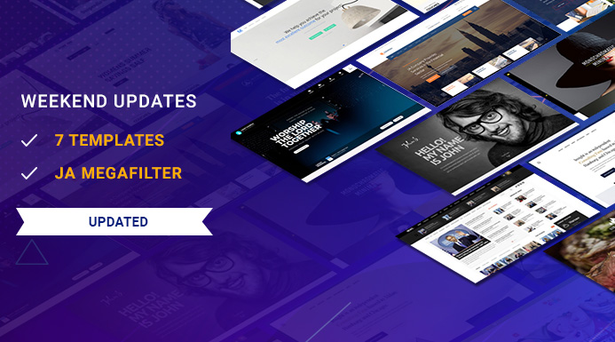 Weekend Updates: 7 Joomla templates and JA Megafilter extension updated
