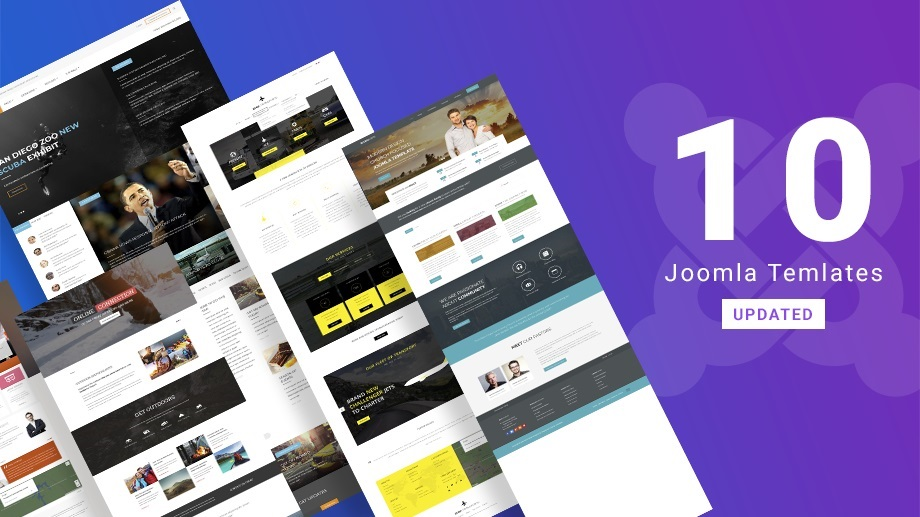10 Joomla templates updated for Joomla 3.9.8