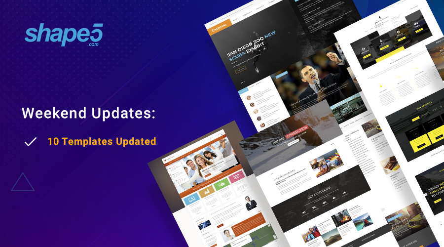 10  Joomla templates updated for Joomla 3.9.4
