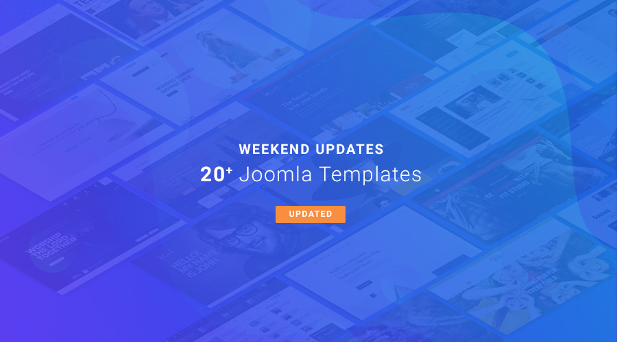 20  Joomla templates updated for Joomla 3.9.4