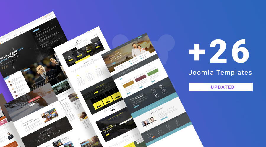 26 more Joomla templates and extensions updated for Joomla 3.9.2 and bug fixes