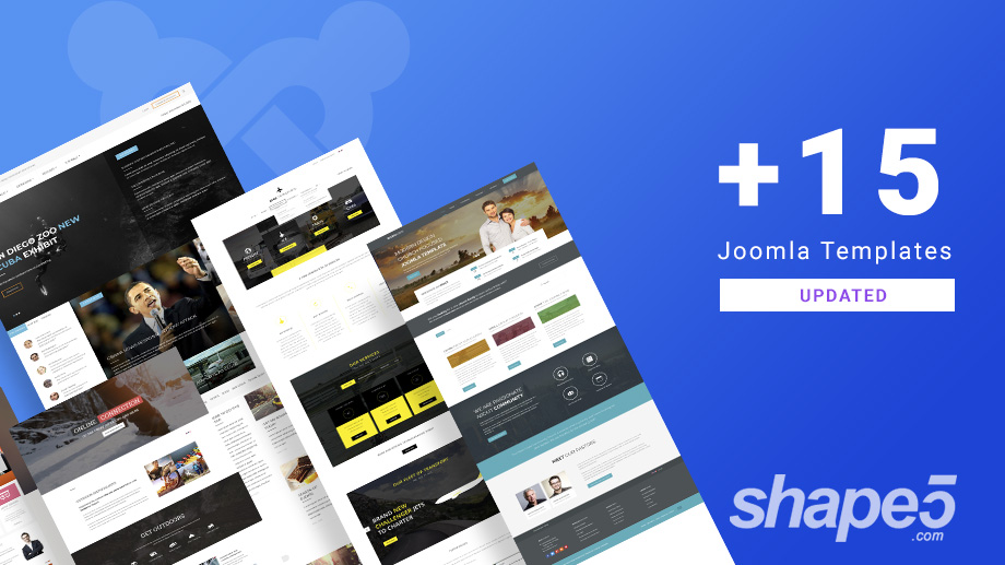 15 Joomla templates and extensions updated for Joomla 3.9.1 and bug fixes