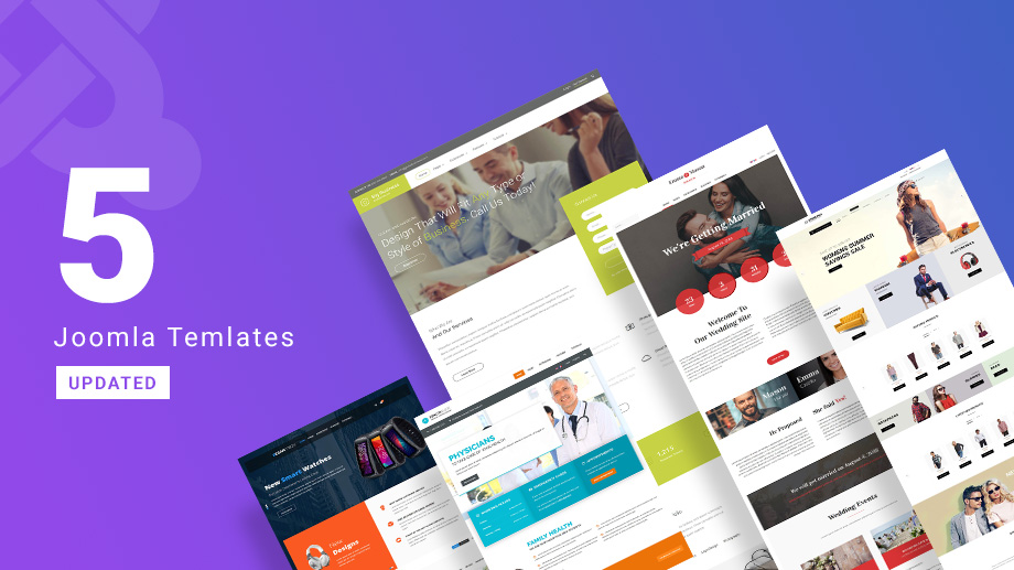 5 Joomla templates updated for Joomla 3.9.6