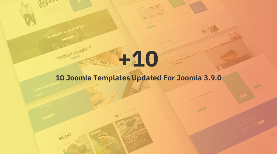 10 Joomla templates and extensions updated for Joomla 3.9 and bug fixes