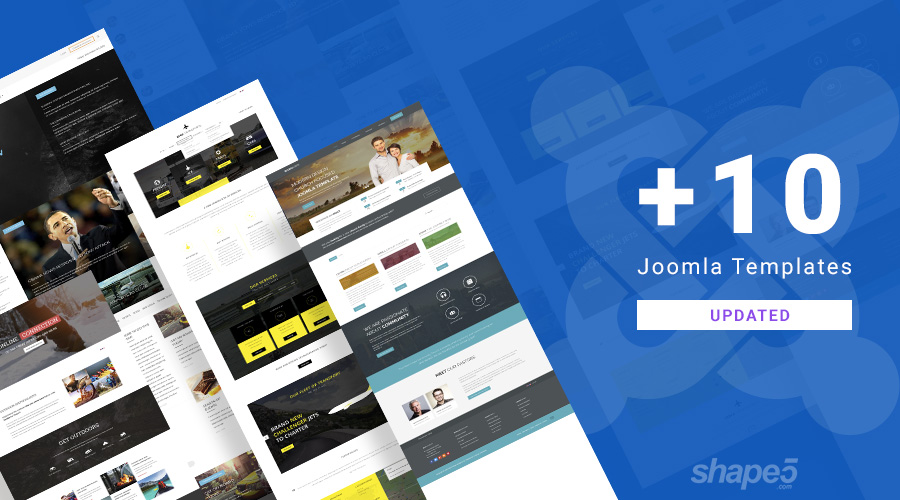 10 Joomla templates updated for Joomla 3.9.6