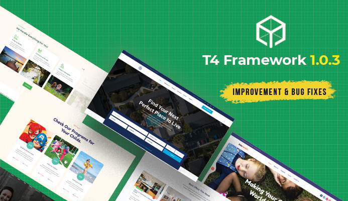 T4 Joomla template Framework 1.0.3: updated for improvement and bug fixes