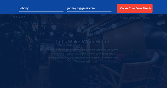 create Joomla page builder website