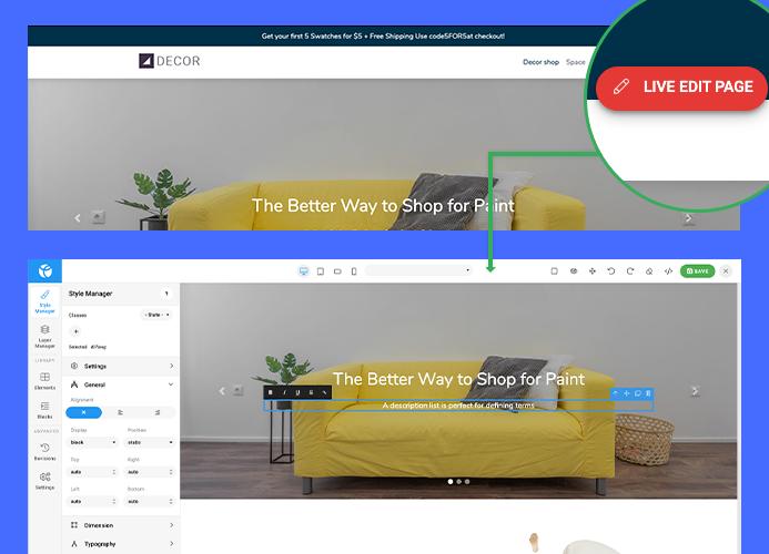 drag and drop Joomla page builder