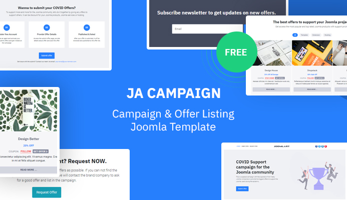 covid support campaign for the joomla community