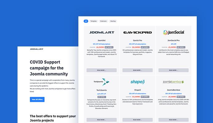 Joomla covid 19 support campaign