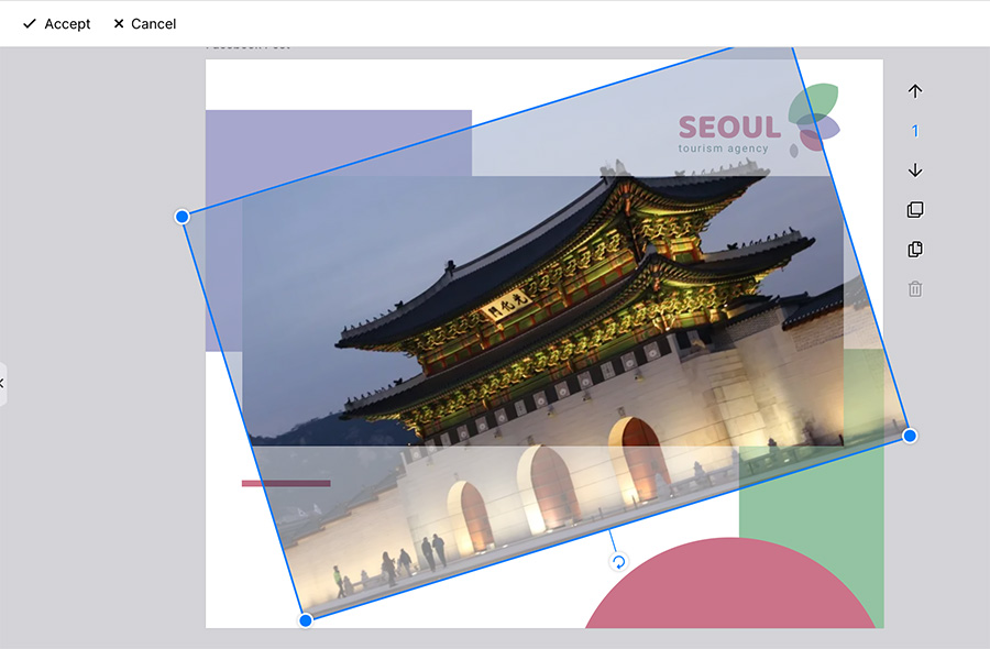 designbold image crop feature