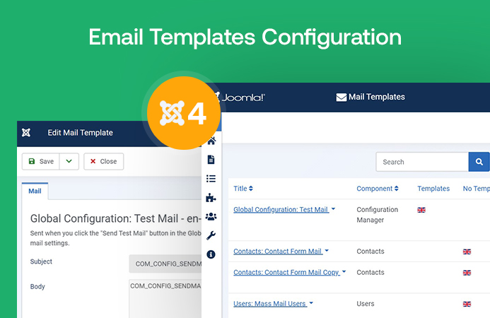 Joomla 4 Email Template Configuration
