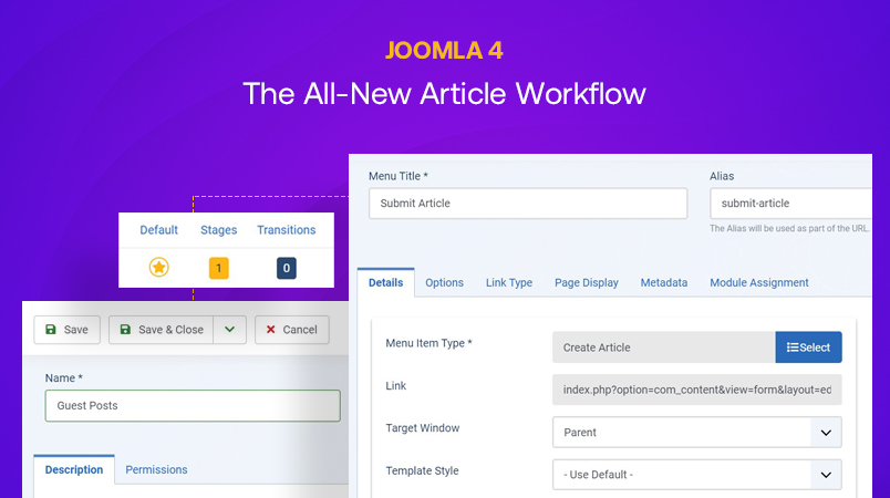 The all new Joomla 4 Workflow feature explained