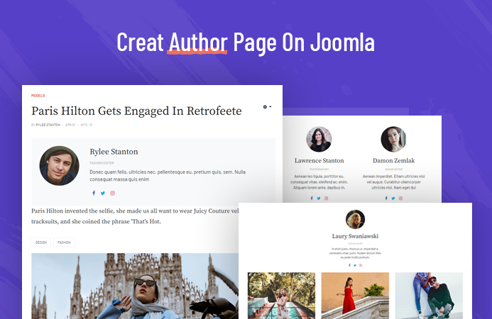 How to create author page and author block for your Joomla website using T4 Joomla template framework.