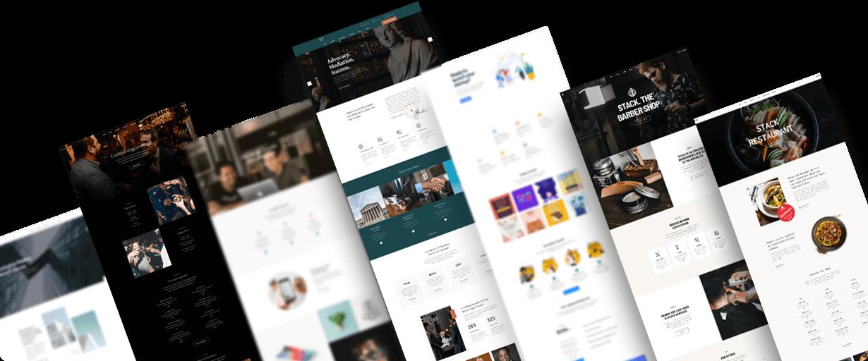 Joomla landing page design service